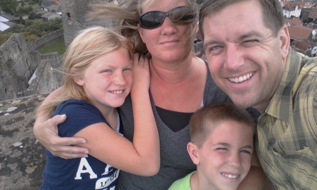MIchael Hellickson and Family at German Castle